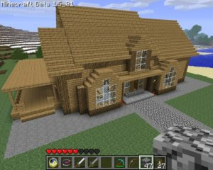 minecraft picture house